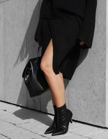 BIENKOVSKA Spódnica kopertowa czarna