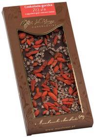 Gorzka czekolada z jagodami goji i ziarnem kakao