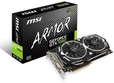 MSI GeForce GTX 1060 Armor OCV1 VR Ready