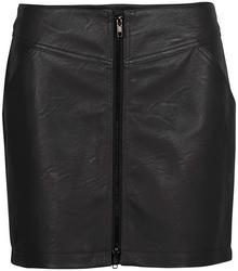 Bonprix Spódnica ze sztucznej skóry czarny