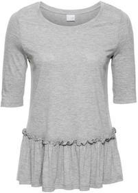 Bonprix Shirt z baskinką jasnoszary melanż