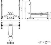 Marbo Sport Ławka ze stojakami wzmocniona MS-L105