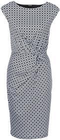 Bonprix Sukienka czarno-biały z nadrukiem
