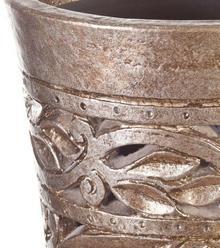 Dekoria Wazon Kolony Peru silver M 47cm 47cm 005-287