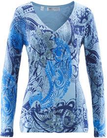 Bonprix Sweter rozpinany lodowy niebieski - kobaltowy