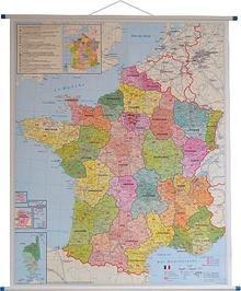 Stiefel Francja mapa ścienna kody pocztowe 1:1 000 000 Stiefel
