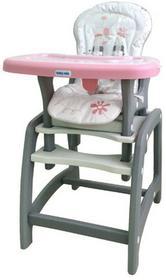 Baby Mix Krzesełko wysokie 2w1 UR-DC01 PINK 44035