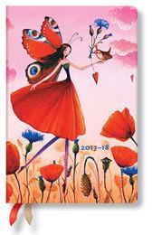 Paperblanks Kalendarz 2017-18 18-mc Poppy Field Mini Hor