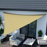 Jarolift Żagiel przeciwsłoneczny. trójkątny. z tkaniny wodoodpornej. piaskowy. 700x500x500 cm