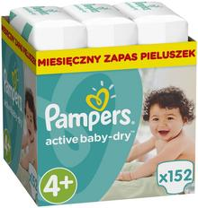 Pampers Pieluchy Active Baby 4+ Maxi 152 szt.