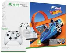 Microsoft Xbox One S 500 GB Biały + Forza Horizon 3 + Forza Horizon 3 Hot Wheels + 6M Live Gold + 2 pady