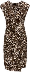 Bonprix Sukienka z dżerseju w cętki leoparda
