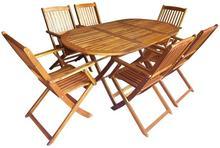 vidaXL 7-częściowy zestaw mebli ogrodowych z drewna akacjowego