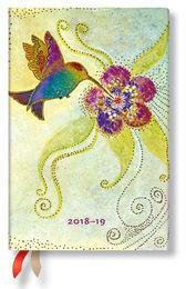 Paperblanks Kalendarz 18M 2019 Hummingbird Mini Horizontal