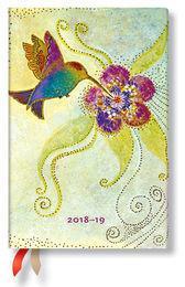 Paperblanks Kalendarz 18M 2019 Hummingbird Mini Horizontal