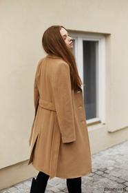 Płaszcz klasyczny kamel - ocieplany wełną