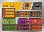 Rebel dodatek do gry Terraformacja Marsa - Zestaw 5 plansz graczy (z wycięciami)