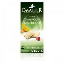 Cavalier Czekolada biała mango + malina sł. stewią 85g 11STECZEBM