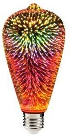 Polux Dekoracyjna żarówka LED filament ST64 3D E27 3,5W 5901508308849
