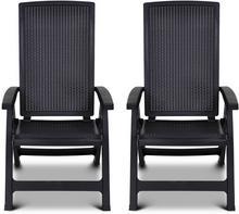 Allibert Rozkładane krzesło ogrodowe Montreal, grafitowe, 222971