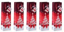 Sigel gt024torebki na prezenty z papieru, zestaw  szt., butelki na święta Bożego Narodzenia