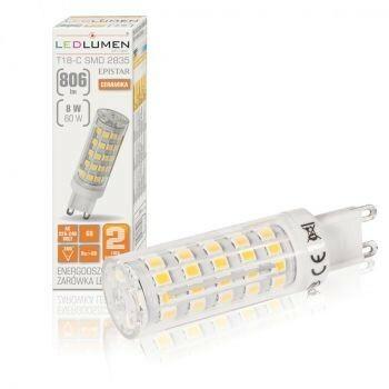 LEDlumen Żarówka LED G9 8W 230V 251090125