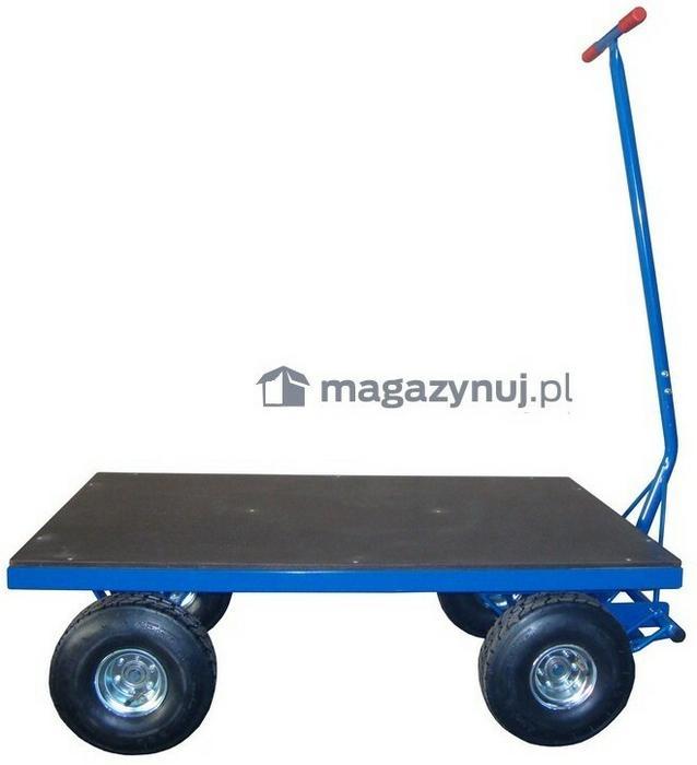 WIZ Wózki Wózek platformowy. Platforma ze sklejki z siatką antypoślizgową. Wym. 1000x2000mm (Koła: Pneumatyczne)