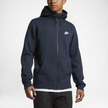 Nike Męska bluza z kapturem Sportswear Full-Zip - Niebieski 804389-451