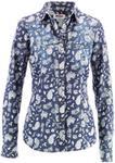 Bonprix Koszula dżinsowa niebiesko-biały z nadrukiem