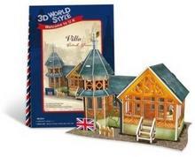 Cubicfun PUZZLE 3D Domki świata Wielka Brytania Villa 491979