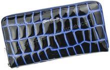 Pierre Cardin Portfel damski skórzany 03 COCO 118 Niebieski - niebieski / czarny 03 COCO 118 niebieski-0