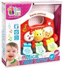 Bambam Muzyczna Grzechotka zwierzęta BAM-316675