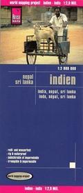 Reise Know How Indie Nepal Sri Lanka mapa 1:2 900 000 Reise Know-How