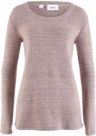 Bonprix Sweter z długim rękawem matowy jasnoróżowy melanż