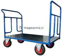 WIZ Wózki Wózek platformowy dwuburtowy, platforma z blachy. Wym. 1200x700mm (Ładowność: 600kg)