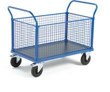 AJ Wózek platformowy 4 boki z siatki 1365x800 mm z hamulcami 739920