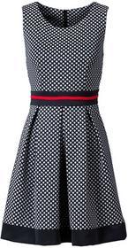 Bonprix Sukienka w groszki ciemnoniebieski w groszki