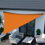 Jarolift Żagiel przeciwsłoneczny. trójkątny. z tkaniny wodoodpornej. pomarańczowy. 360x360x360 cm