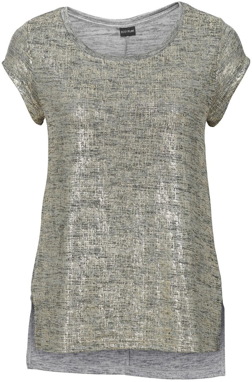 0035be85 Bonprix Shirt z połyskiem beżowo-złoty melanż – ceny, dane ...