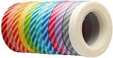 Doodlebug Siła w kolorze Doodle Bug Design Candy paski Washi Tape sortowane KKWT-4235
