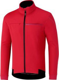 Shimano WINDBREAK zimowa kurtka rowerowa czerwona ECWJAPWQS22
