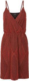 Bonprix Sukienka shirtowa czerwono-złoty