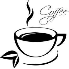 Oobrazy Cytaty, Coffee, Naklejka ścienna, 100x100 cm
