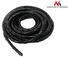 Maclean Osłona maskująca na kable MCTV-685 B 8.7*10mm 3m czarna spirala