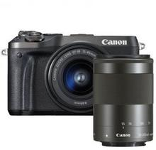 Canon EOS M6 +15-45 IS STM + 55-200 IS STM czarny