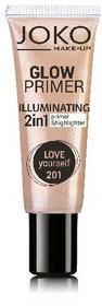 JOKO Emulsja rozświetlająca 2w1 Glow Primer nr 201 love yourself 25ml