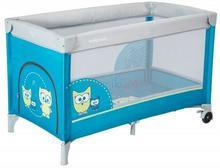Alexis HR-8052-174 łóżeczko turystyczne jednopoziomowe SOWA niebieska 768268