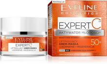 Eveline Expert C 50+, liftingujący krem-maska dzień/noc, 50 ml