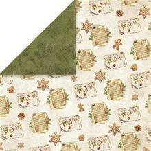 Świąteczny papier Vintage Christmas 30x30 cm - 02