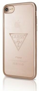 Guess Transparent Triangle - Etui iPhone 7 / iPhone 6s / iPhone 6 (różowo-złoty/przezroczysty) 10_9902